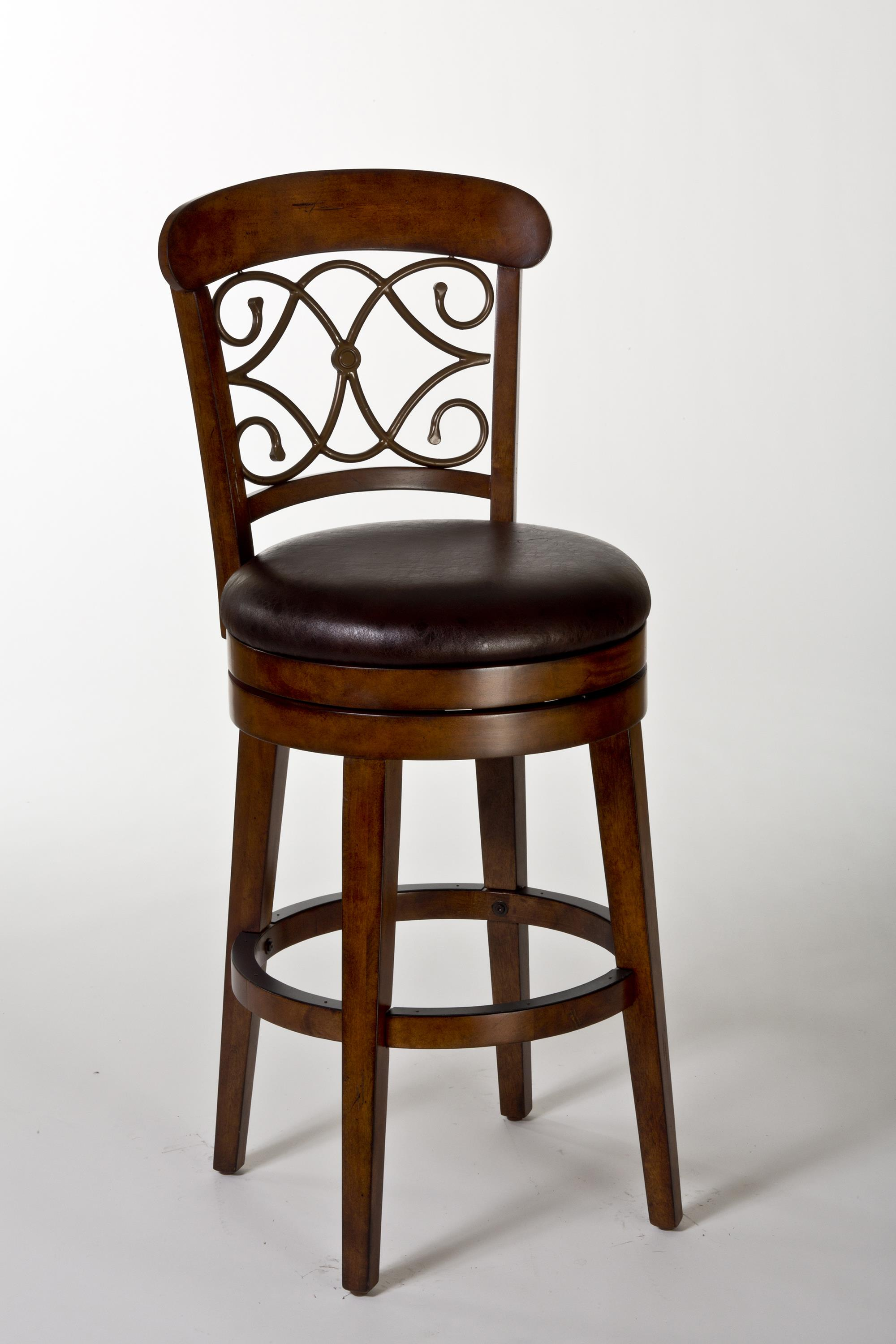 Wood Stools Bergamo Swivel Bar Stool by Hillsdale at SuperStore