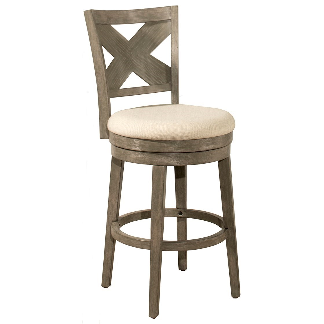 "Wood Stools 30"" Swivel Bar Stool by Hillsdale at SuperStore"