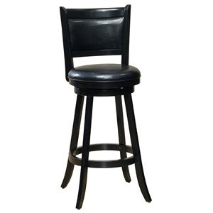 "Hillsdale Wood Stools 29"" Bar Height Dennery Swivel Bar Stool"