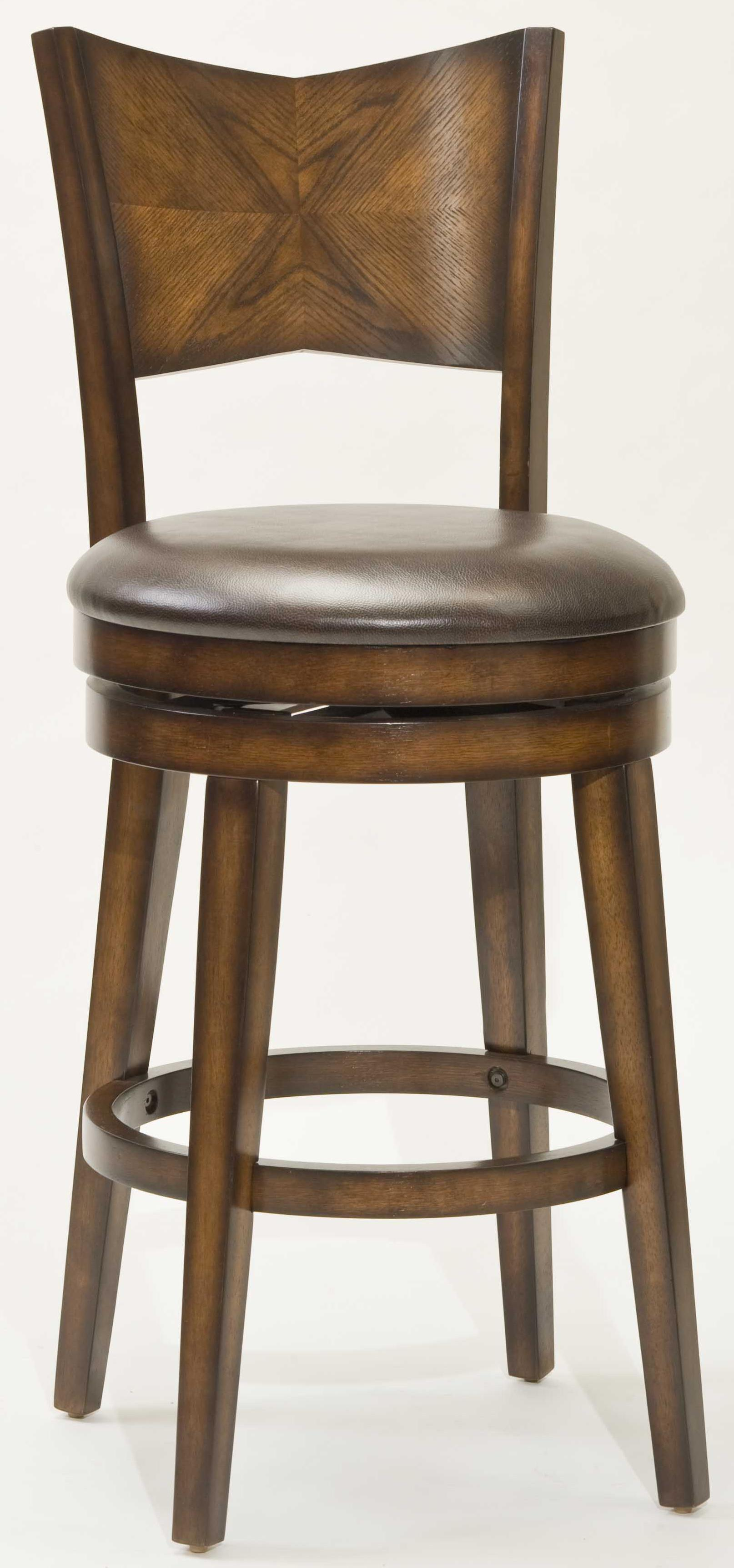 """Wood Stools 26.5"""" Counter Height Jenkin Swivel Bar Stool by Hillsdale at Northeast Factory Direct"""