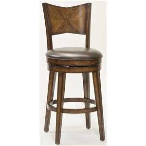 "Hillsdale Wood Stools 26.5"" Counter Height Jenkin Swivel Bar Stool"