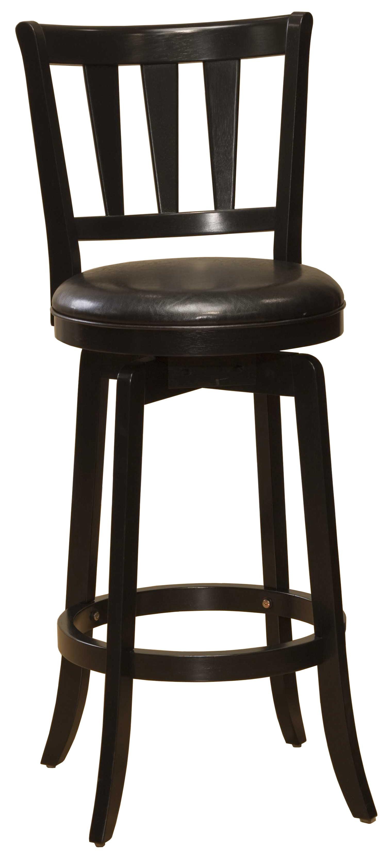 """Wood Stools 30"""" Bar Height Presque Isle Swivel Bar Stool by Hillsdale at Mueller Furniture"""