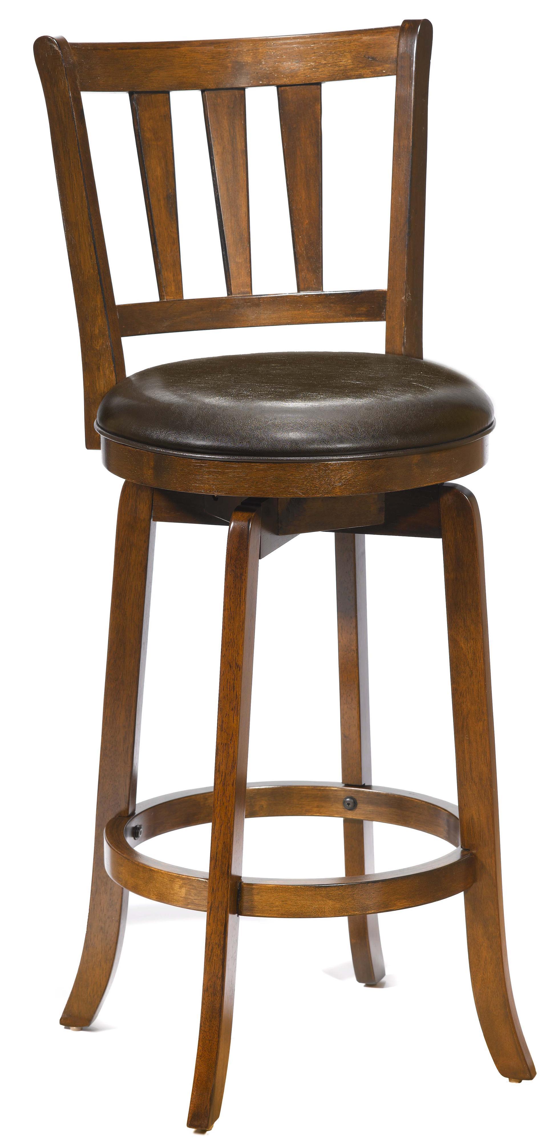 "Wood Stools 30"" Bar Height Presque Isle Swivel Bar Stool by Hillsdale at Novello Home Furnishings"