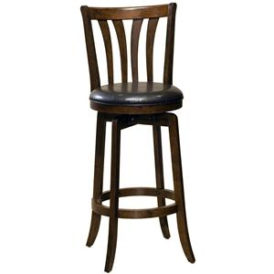 "Hillsdale Wood Stools 30"" Bar Height Savana Swivel Bar Stool"