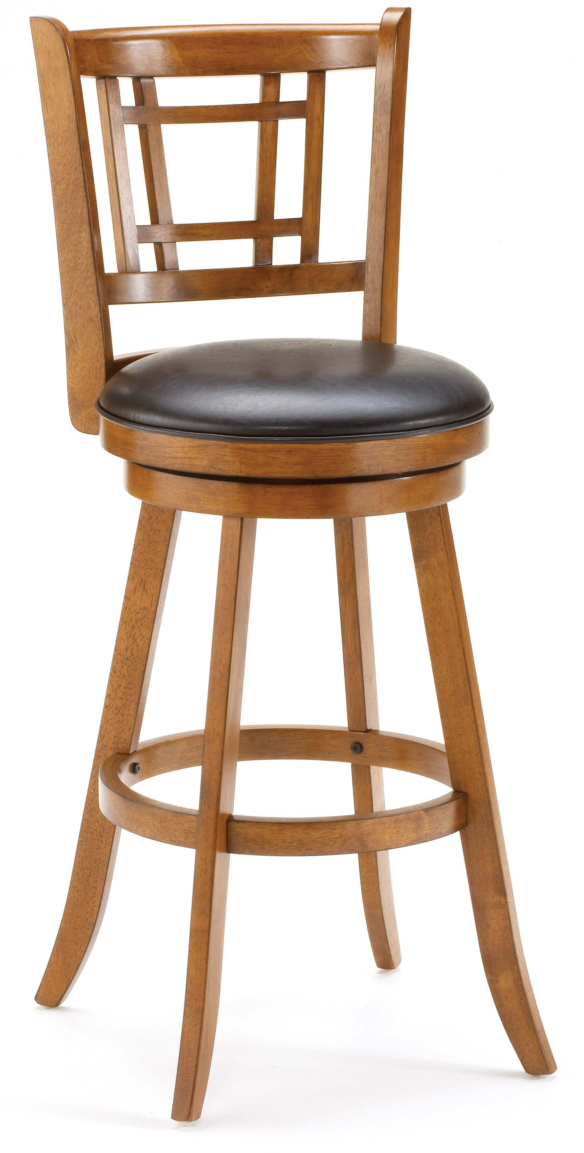 Wood Stools Fairfox Swivel Counter Stool by Hillsdale at Novello Home Furnishings