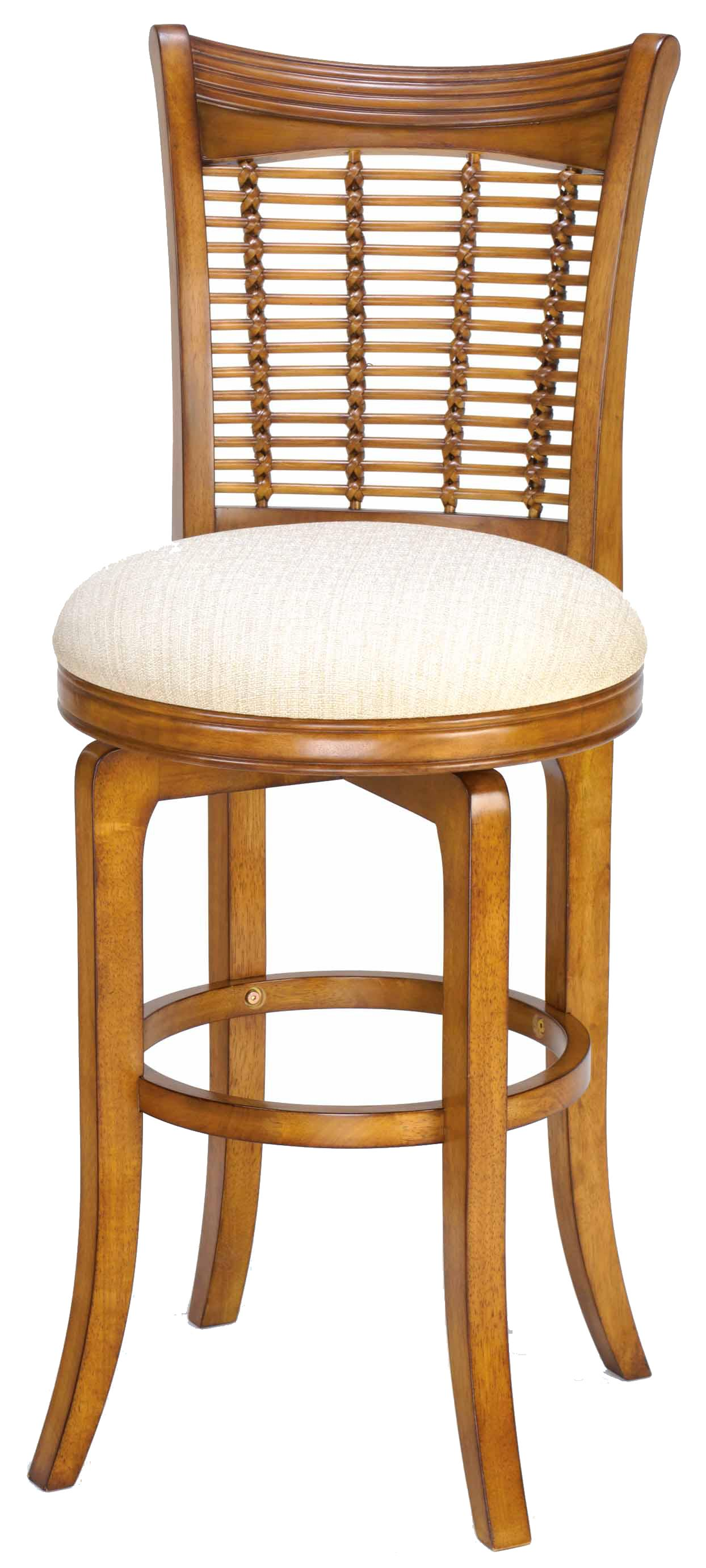 "Wood Stools 24"" Counter Height Bayberry Swivel Stool by Hillsdale at Johnny Janosik"
