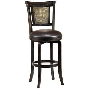 "Hillsdale Wood Stools 30.5"" Bar Height Camille Swivel Stool"