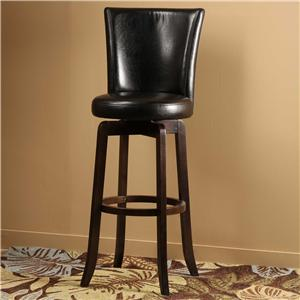 Hillsdale Wood Stools  Copenhagen Swivel Bar Stool