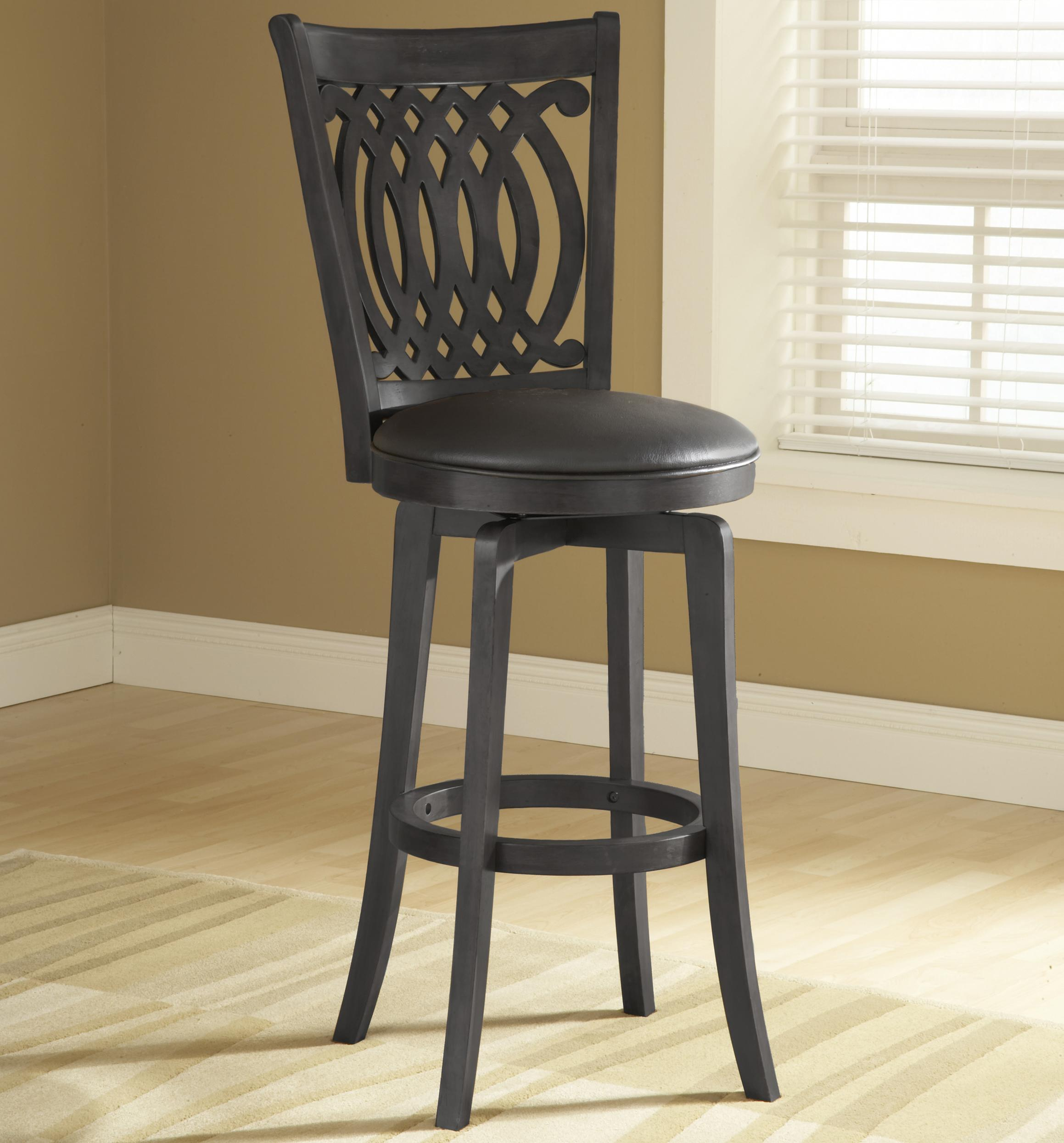 "Wood Stools 24"" Counter Height Van Draus Swivel Stool by Hillsdale at Gill Brothers Furniture"