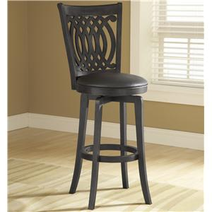 "Hillsdale Wood Stools 30"" Bar Height Van Draus Swivel Stool"