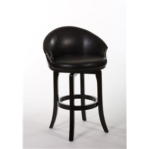 Hillsdale Wood Stools Dartford Swivel Bar Stool