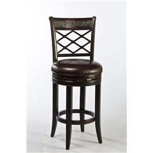 Spalding Swivel Bar Stool with Etched Pattern