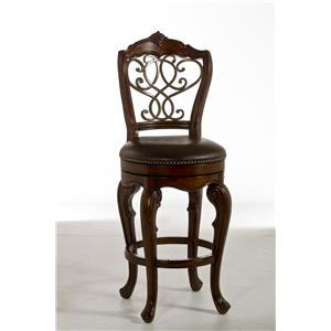 Hillsdale Wood Stools Burrell Swivel Counter Stool