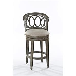 Swivel Counter Height Stool with Interlocking Ring Design