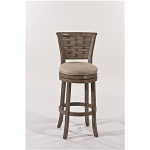 Wooden Swiveling Bar Height Stool