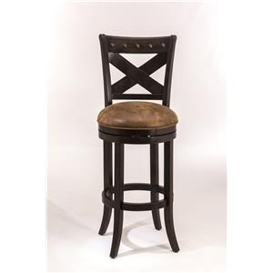 Swivel Counter Height Stool with X-Backrest