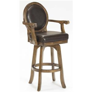 "Hillsdale Wood Stools 30"" Swivel stool"