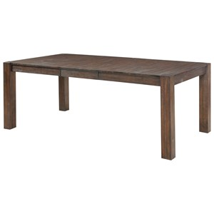Contemporary Dining Table with Leaf