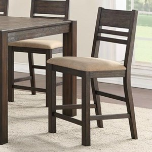 Thin Ladder Back Counter Stool