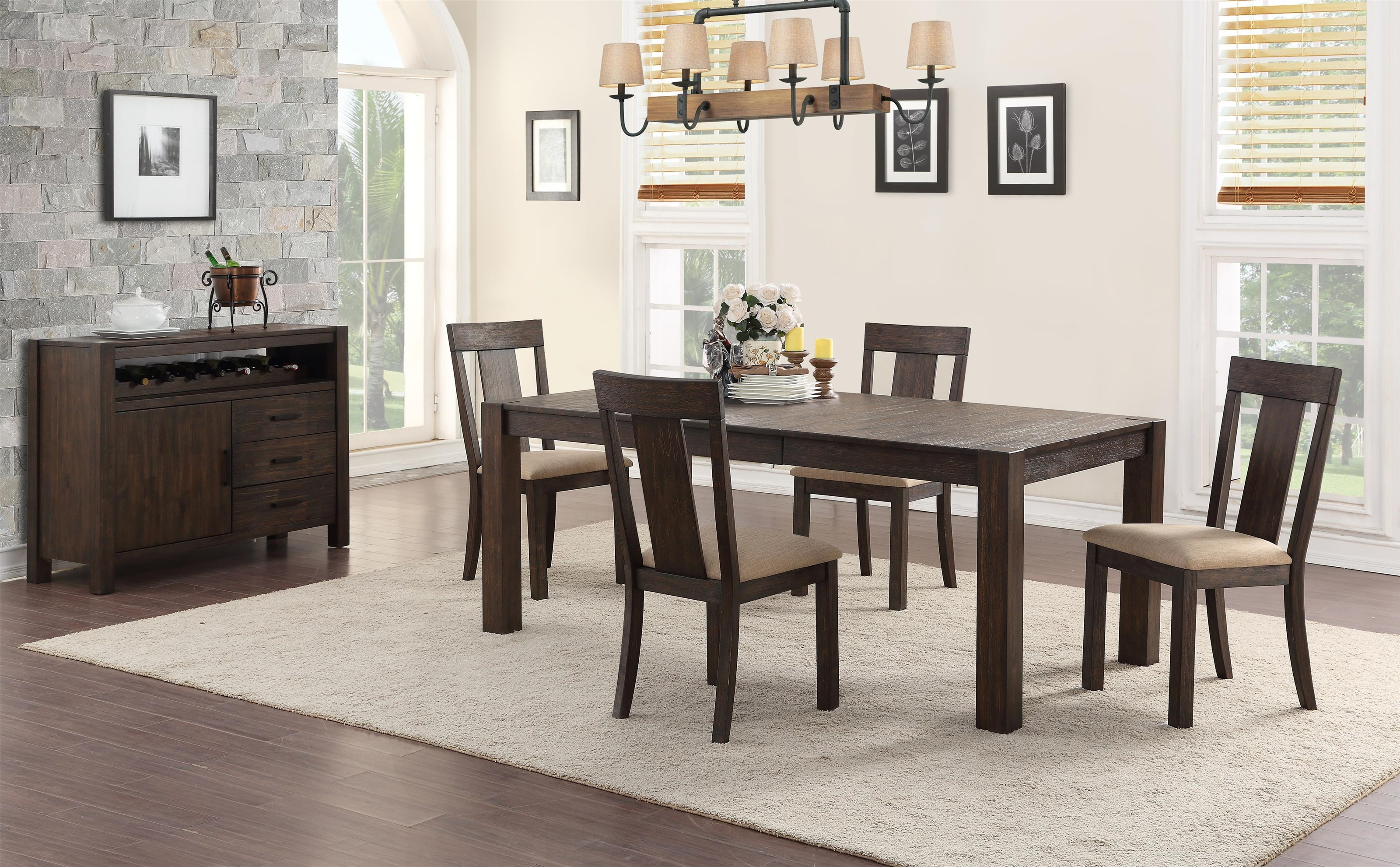 Tyler Table + 4 Chairs by HH at Walker's Furniture
