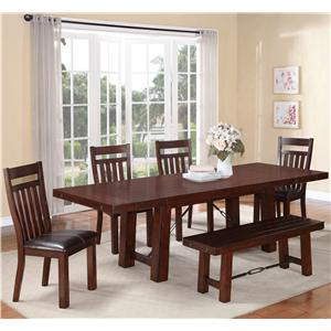 Holland House 1258 6 Piece Dining Set