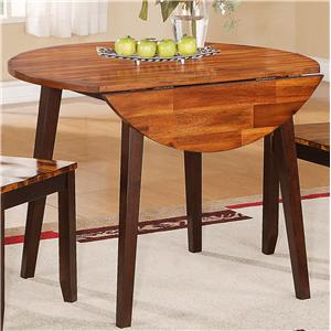 "Holland House 1267 Dining Round Table with Two 8.5"" Drop Leaves"