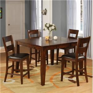 Holland House 1279 Counter Pub Table Set with 4 Bar Stools