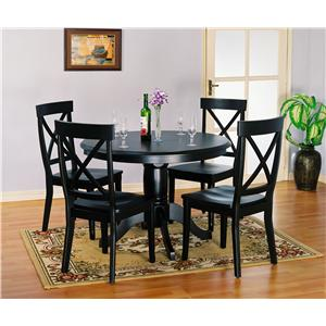 Holland House 1290 5 pc. Table and Chairs Set