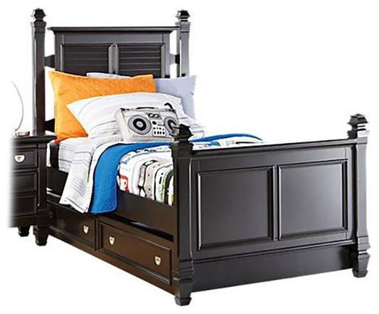 Starry Night Twin Bed w/ Trundle Storage at Rotmans