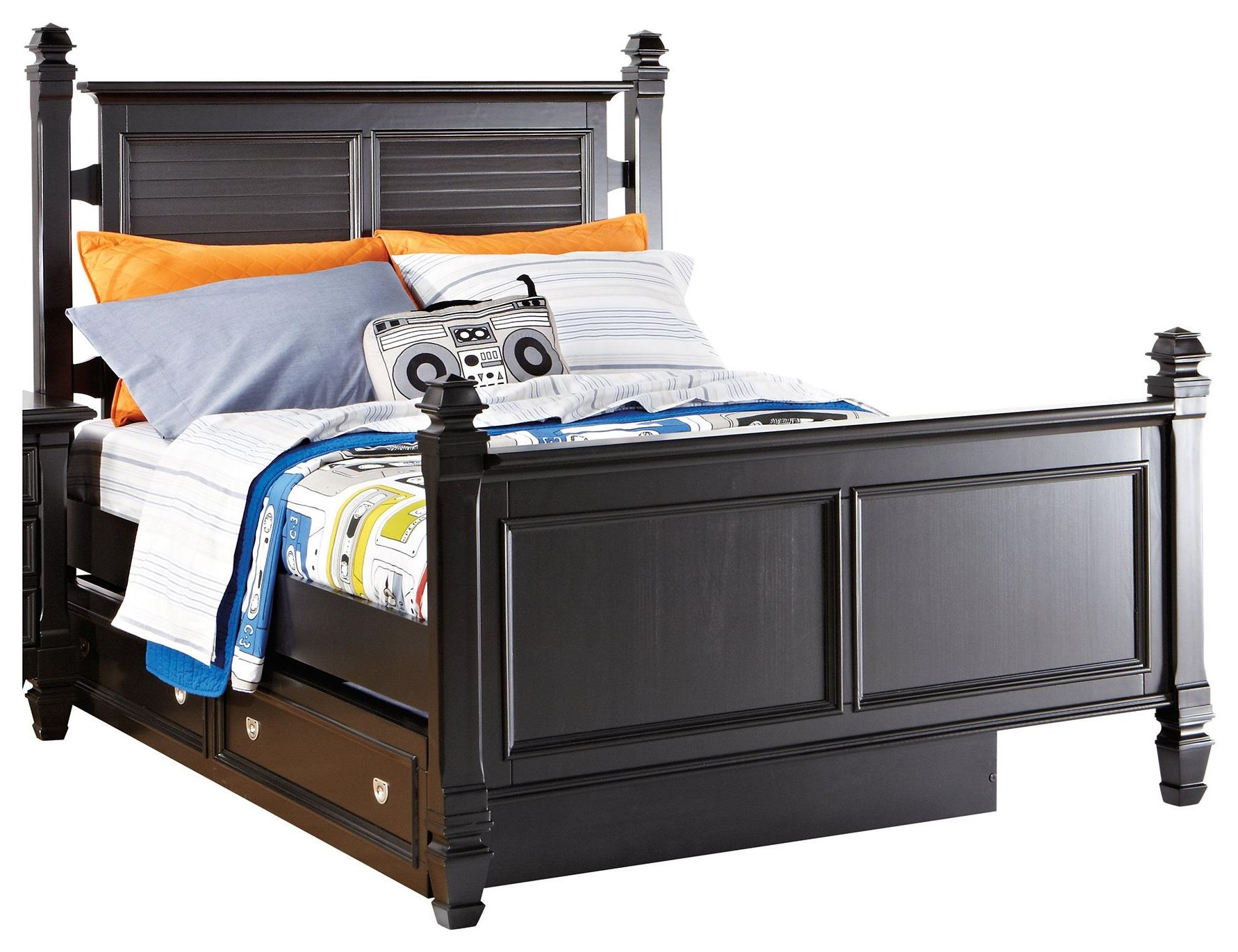 Starry Night Full Bed w/ Trundle Storage at Rotmans