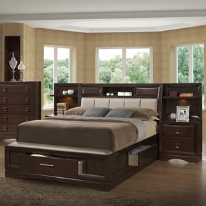 Queen Bookcase Bed with 2 Night Stands/Piers