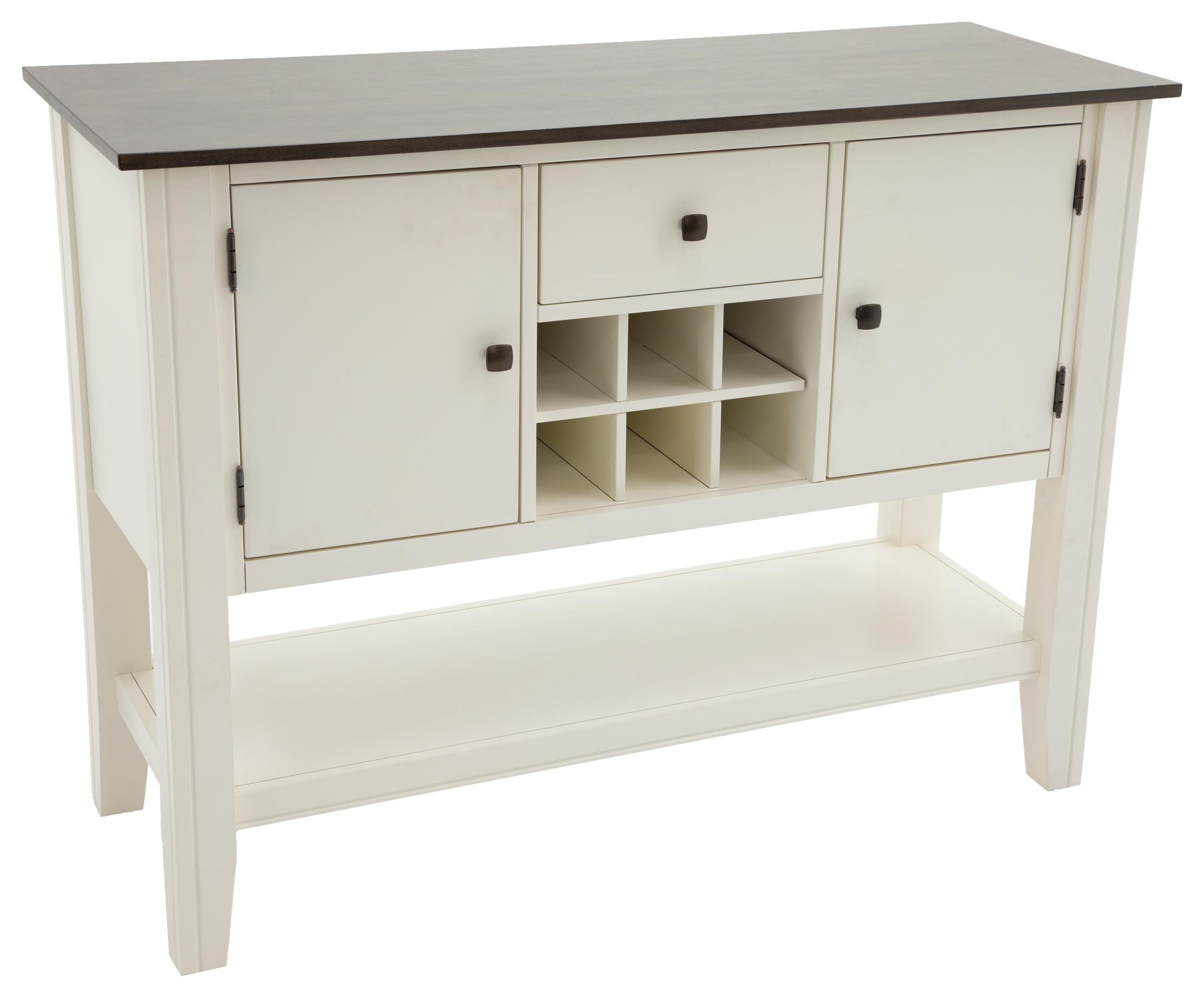 Carey White Carey Grey/White Server by HH at Walker's Furniture