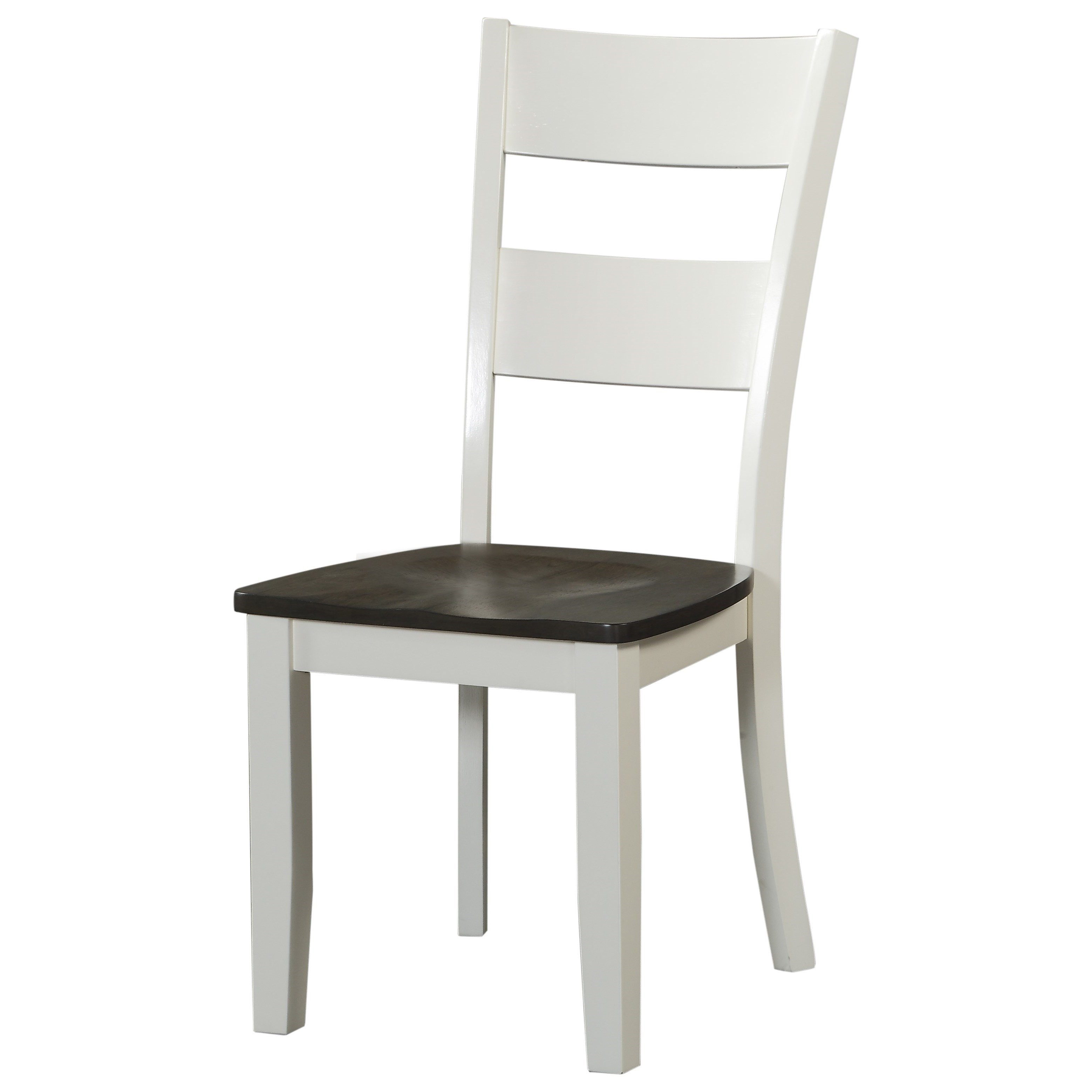Carey White Ladderback Side Chair by HH at Walker's Furniture