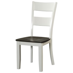 Ladderback Side Chair with Tapered Legs