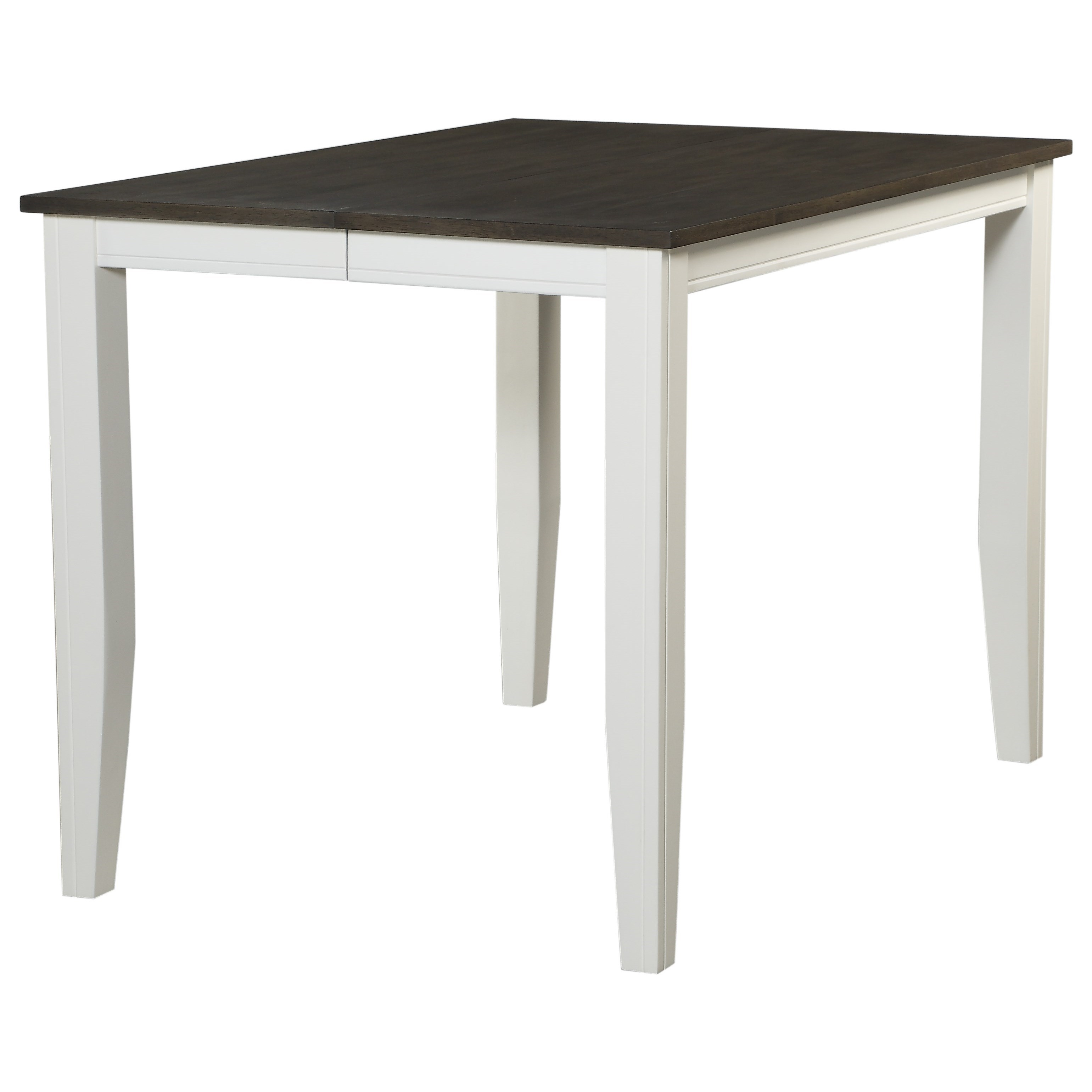 Carey White Square Counter Height Pub Table by HH at Walker's Furniture