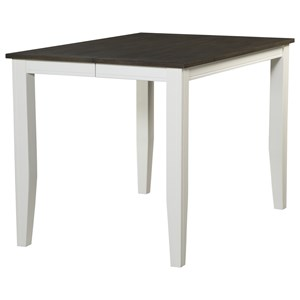 Square Counter Height Table with Tapered Legs