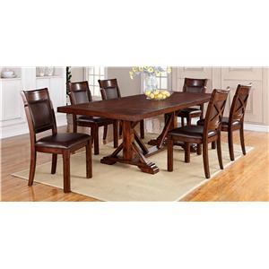 Trestle Table + 6 Chairs