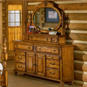 Holland House American Treasures Dresser and Mirror Combo