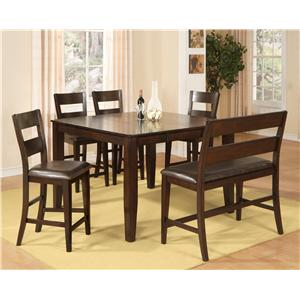 Holland House Bend 6 Piece Pub Table Dining Set