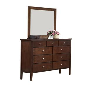 Holland House Central Park  Dresser and Mirror Set