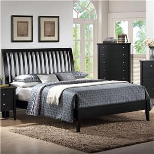 Holland House Central Park Full Slatted Sleigh Headboard Bed