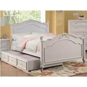 Full Post Headboard and Footboard Bed w/ Trundle