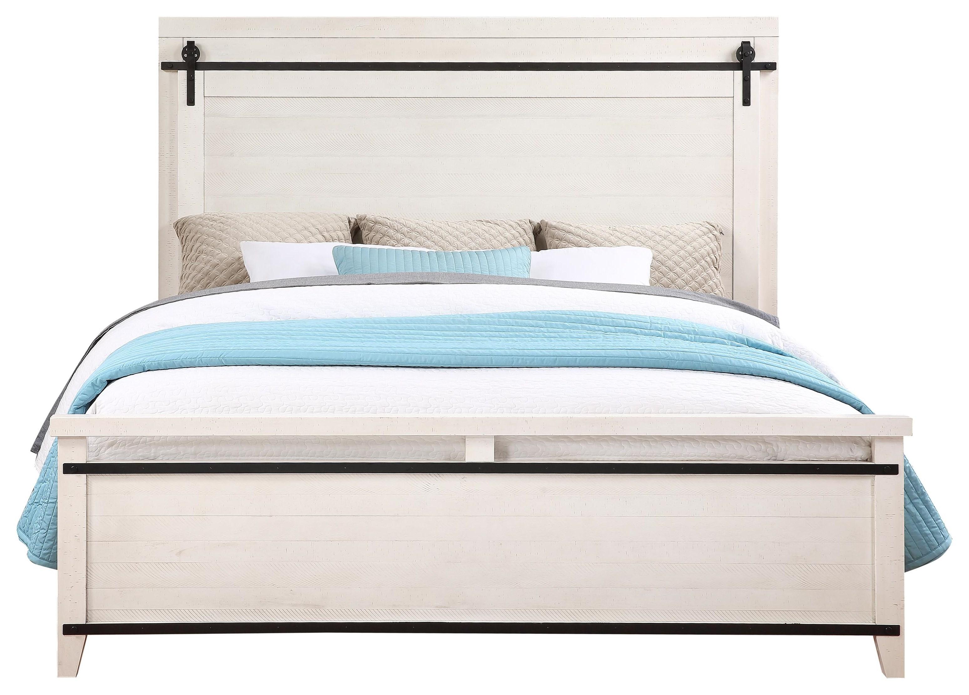 Dakota King Size Panel Bed by HH at Walker's Furniture