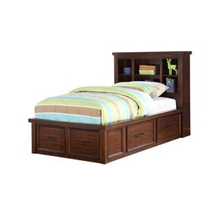 Full Bookcase Bed with Storage