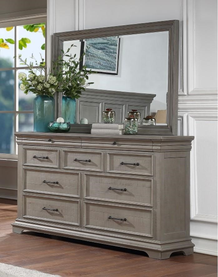 Lynd Dresser and Mirror by HH at Walker's Furniture