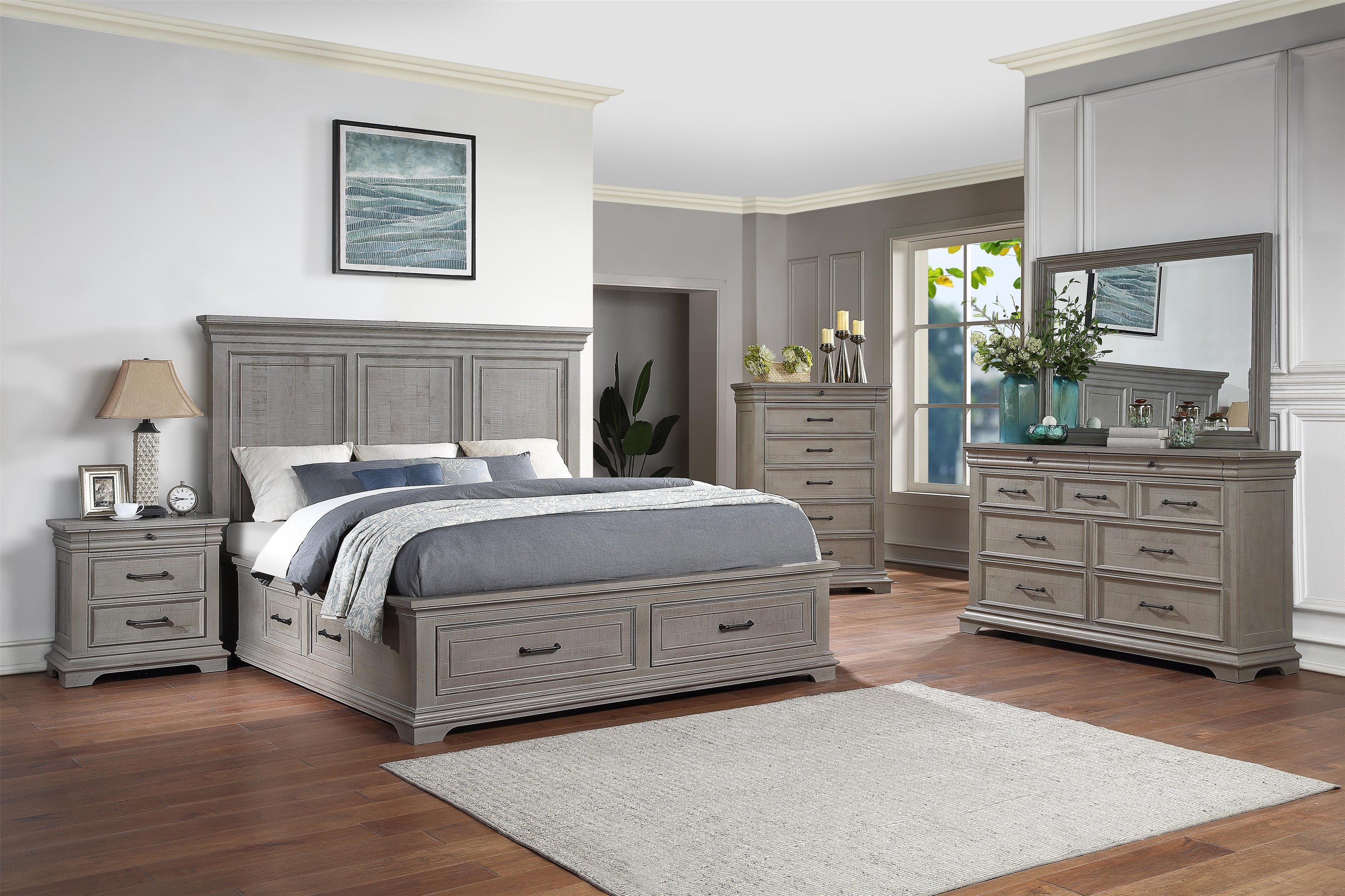 Lynd 5 Piece Queen Storage Bedroom Group by HH at Walker's Furniture