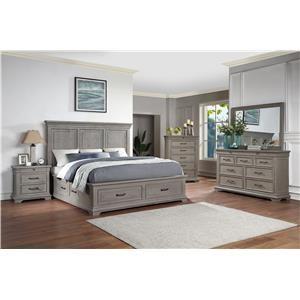 5 Piece King Storage Bedroom