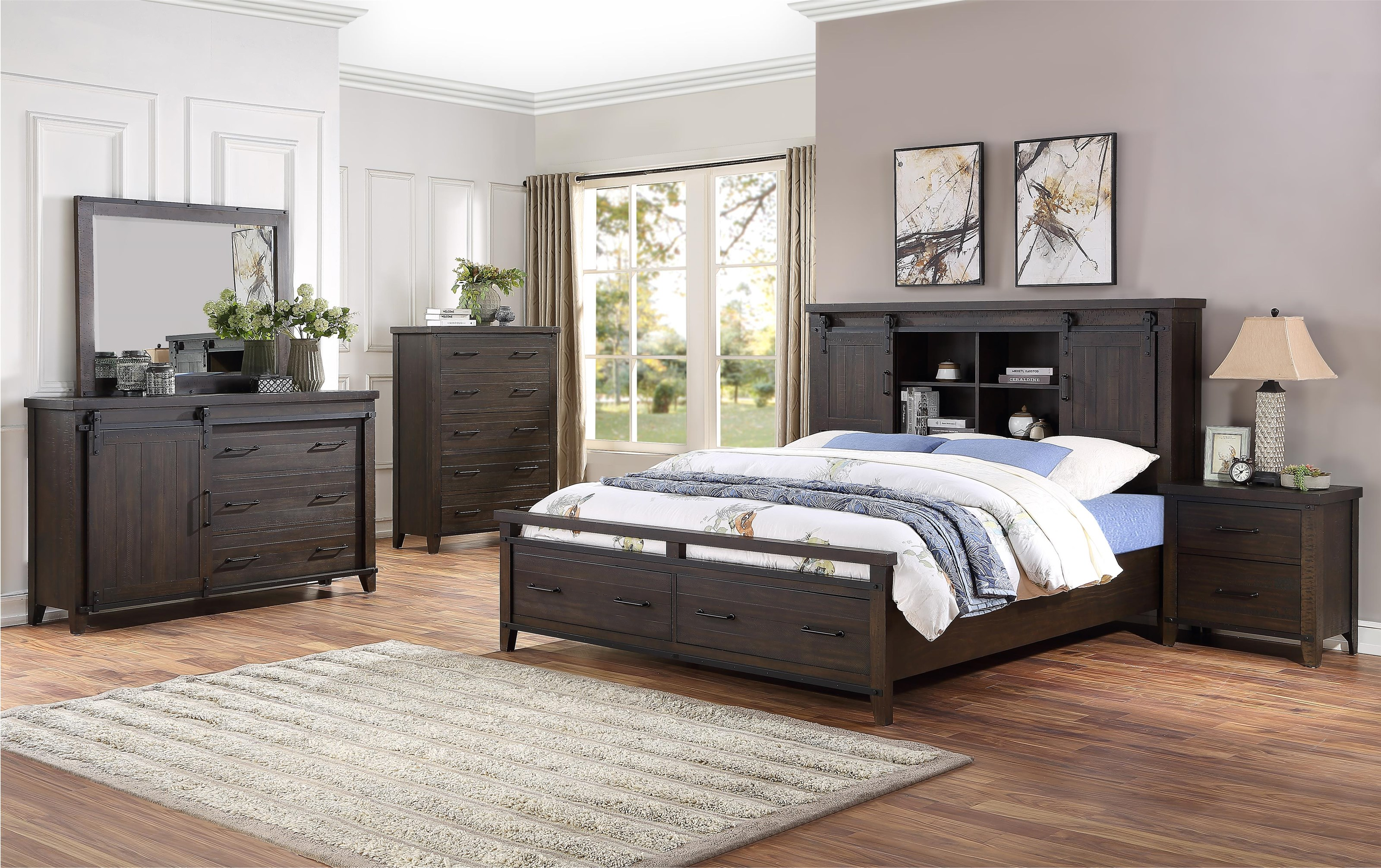 Durango 5 Piece Queen Storage Bedroom Group by HH at Walker's Furniture