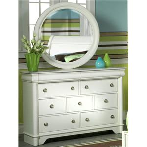 Holland House Petite Louis Dresser and Mirror Combination