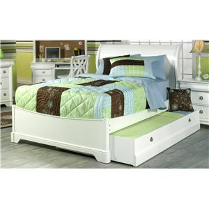 Holland House Petite Louis Twin Sleigh Bed with Trundle Storage